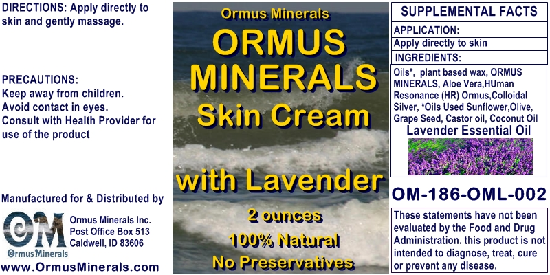 Ormus Rich Mineral Skin Cream with Lavender