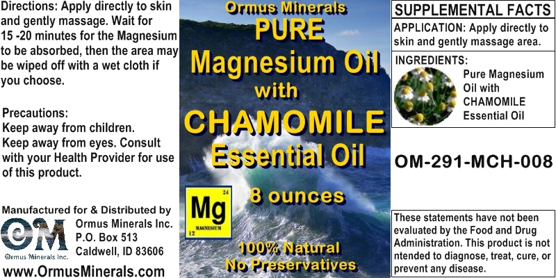 Ormus Minerals - Pure Magnesium Oil with Chamomile Essential Oil